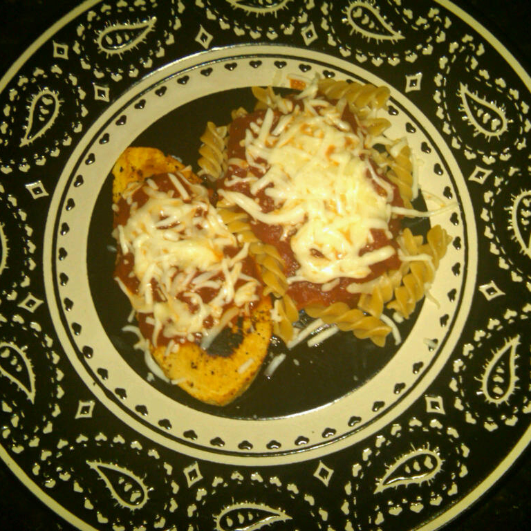 Chicken Parmesan without the chicken! Can you tell?
