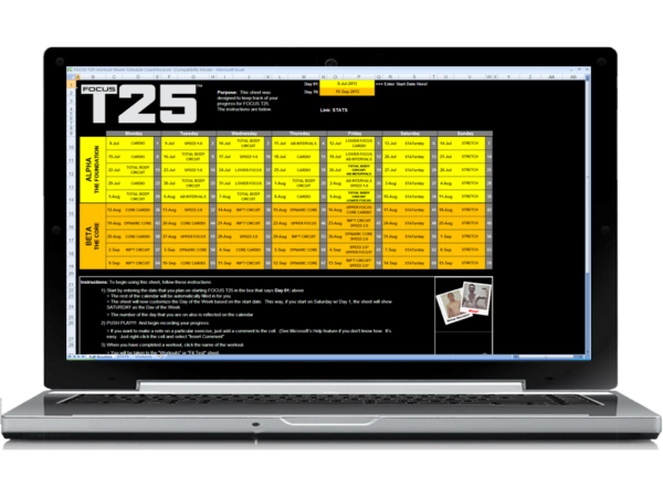 Download the BEST FOCUS T25 Worksheets!